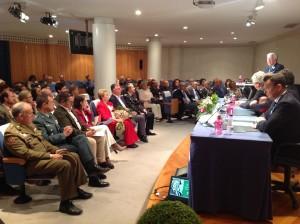 Al acto de homenaje se sumaron las primeras autoridades civiles y militares de Huelva.