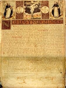 Título de familiar de la Inquisición en favor de Juan Ortiz (Hinojos, 1679). / Foto: José Luis Gozálvez.