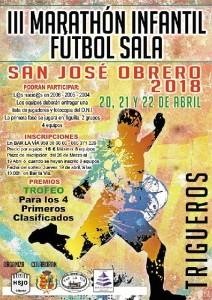 Cartel promocional del III Marathón Infantil de Fútbol Sala.