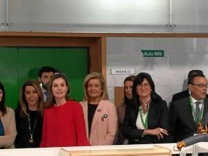 La reina Letizia visita la Universidad de Huelva.