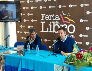 Rafael Adamuz y Daniel Blanco, en la Feria del Libro.