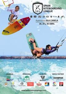 Cartel de la prueba de kitesurf que se celebrará este fin de semana en Ayamonte.