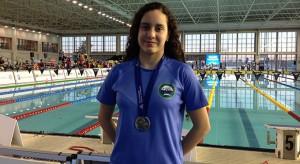 Alba Vázquez, muy satisfecha con su medalla de campeona de España Junior de natación en los 200 metros braza.