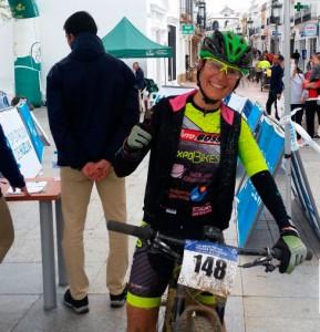 Margarita Porrero, vencedora en féminas. / Foto: Federación Andaluza de Ciclismo.