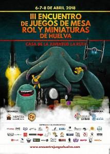 Cartel del III Encuentro de Juegos de Mesa, Rol y Miniaturas, que tendrá lugar los días 6, 7 y 8 de abril en la Casa de la Juventud 'La Ruta'.
