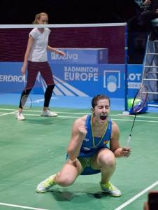 Momento para la historia, Carolina vence a Kosetskaya y gana el oro europeo en Huelva. / Foto: Pablo Sayago.