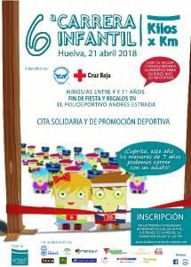 Cartel promocional de la VI Carrera Infantil 'Kilos x Km' organizada por la Fundación Atlantic Copper.