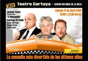 Cartel de la obra de teatro 'Taxi'.