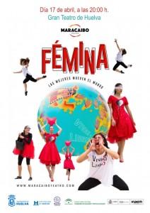 Cartel de la obra de teatro 'Fémina, las mujeres mueven el mundo'.
