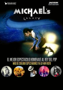 Cartel del musical tributo a Michael Jackson.