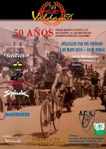 Cartel de la prueba ciclista en Bollullos.