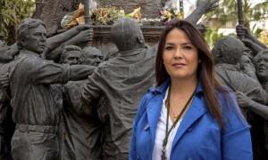 Cinta Burguillos, Hermana Mayor 2018, promotora de la Obra Social sobre la que se lleva a cabo esta jornada. / Foto: Cuarto Tramo