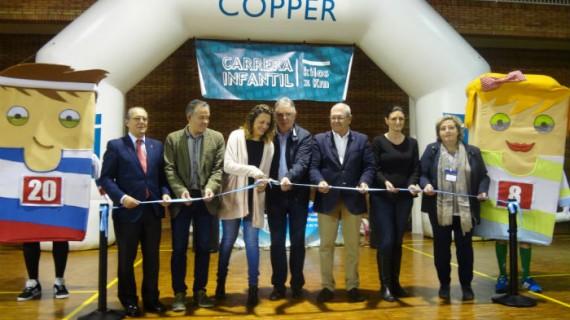Más de 1.100 kilos de alimentos recaudados en la 6ª Carrera Infantil 'Kilos x Km', de la Fundación Atlantic Copper