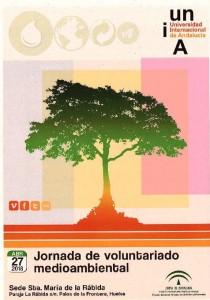 Cartel de la jornada de voluntariado ambiental.