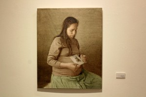 Uno de los cuadros pertenecientes a la exposición 'Afluente lodoso'.