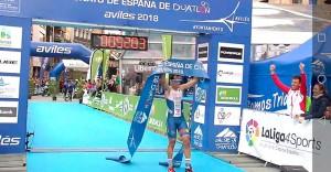 Emilio Martín se corona por sexta vez campeón de España de duatlón.