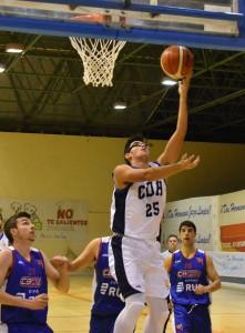 Javi Blanco, con 16 puntos, fue el máximo anotador del Ciudad de Huelva.