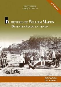 Portada del libro El misterio de William Martin, de Copeiro y Nielsen, editado por la Diputación Provincial de Huelva.