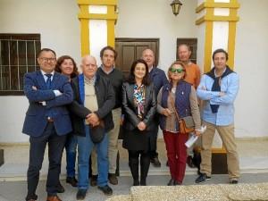 Bella Carballo elegida presidenta de Apyme-Ayamonte, y la nueva Junta Directiva.