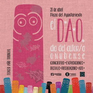 Cartel del Día del Autor y Autora Onubense.