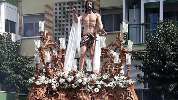 La Hermandad del Resucitado pone el broche de oro a la Semana Santa onubense 2018