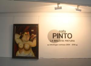 Entrada de la exposición pictórica. / Foto: E.Fidalgo