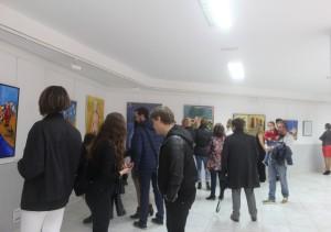 La inauguración de la exposición ha sido muy concurrida. Foto: E.Fidalgo