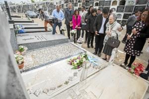 Homenaje a William Martin en el Cementerio de La Soledad.