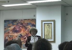 Ana María Cáliz, en su intervención.