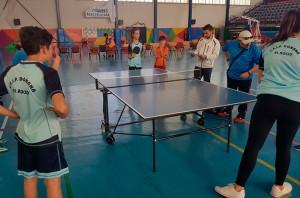 El tenis de mesa fue otra de las actividades que se pusieron en práctica.