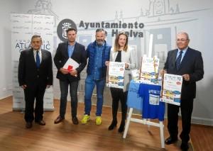 Presentación de la VI Carrera Infantil 'Kilos x Km' que se desarrollará el sábado 21 de abril, a partir de las 11,00 horas por la Avenida Pío XII de Huelva.