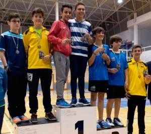 Alejandro Pérez ganó la medalla de oro en el dobles masculino junto a su compañero Francisco Cobos, del Club Bádminton Montilla.