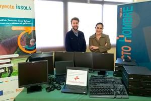 Víctor Rodríguez, de Proyecto Hombre Huelva y Teresa Millán, de Fundación Cepsa.