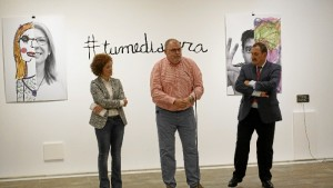 Presentación de la exposición #tumediacara en la Sala de la Provincia. /Foto: Jesús Bellerín.