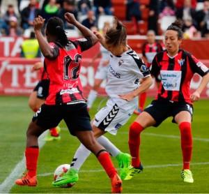 Las onubenses dominaron casi todo el partido y se hicieron acreedoras a la victoria. / Foto: www.lfp.es.