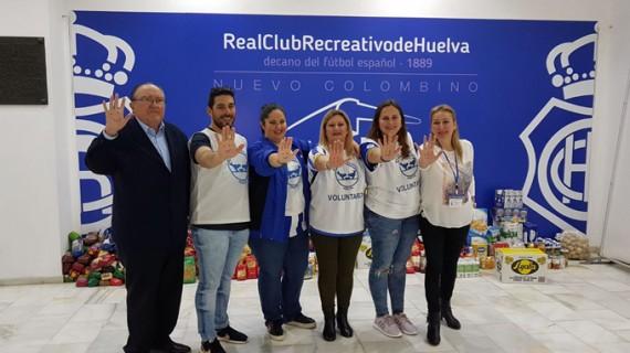 El Banco de Alimentos de Huelva agradece al Recre y a los onubenses su solidaridad