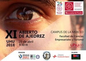 Cartel del torneo de ajedrez de la Universidad de Huelva.