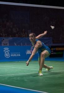 La danesa Mia Blichfeldt exigió a la onubense en la semifinal. / Foto: Pablo Sayago.