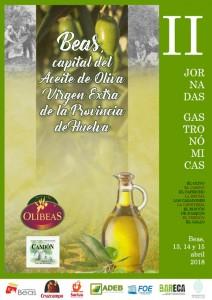 Cartel de las II Jornadas Gastronómicas de Beas.