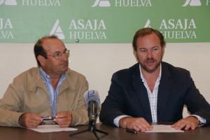 Francisco junto al presidente de Asaja, José Luis García-Palacios.