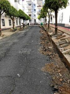 Las obras en la barriada de las adoratrices se prolongarán durante los próximos dos meses.