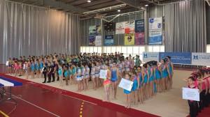 Un total de 250 gimnastas se dieron cita en San Juan del Puerto en el I Encuentro Provincial Interescuelas.