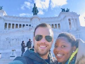 Visitando el país italiano.