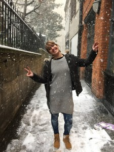 A la onubense no le gustan los cortos y lluviosos días londinenses.