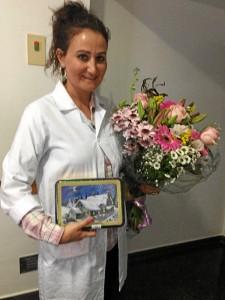 El agradecimiento que recibe de pacientes y familiares es la mayor recompensa para la profesional sanitaria.