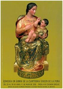 Cartel de la romería en honor a la Virgen de la Peña, de 2018.