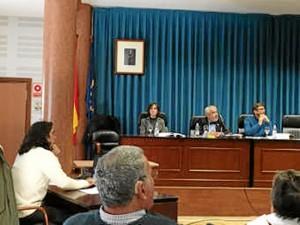 Un momento de la lectura de tesis de Francisco Javier. / Foto: Asociación Minas de Herrerías.