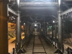 Imagen nocturna actual de la zona mas interior del Muelle.