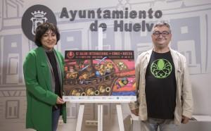Elena Tobar y Gerardo Macías presentaron la nueva edición del Salón del Cómic de Huelva.