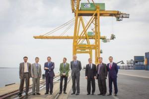 Visita de naviera china Cosco Shipping Spain al Puerto de Huelva.